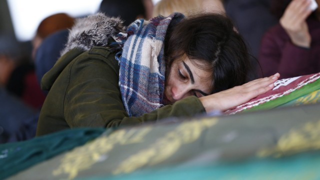 Funeral for victims of car bomb explosion in Ankara
