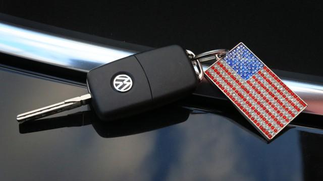 VW Schlüssel mit US- amerikanischer Flagge