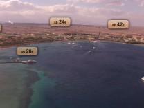 Strand Makadi Bay in Ägypten screenshot von heliview.de