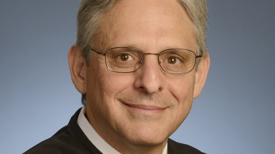 Chief Judge Merrick B. Garland of the United States Court of Appeals for the D.C. Circuit is seen in an undated handout picture