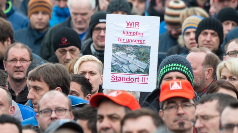 Protestkundgebung bei Siemens Ruhstorf