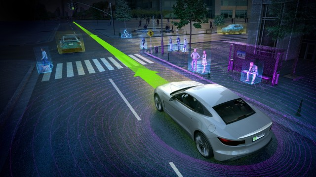 Key Visual von Nvidia zum autonomen Fahren