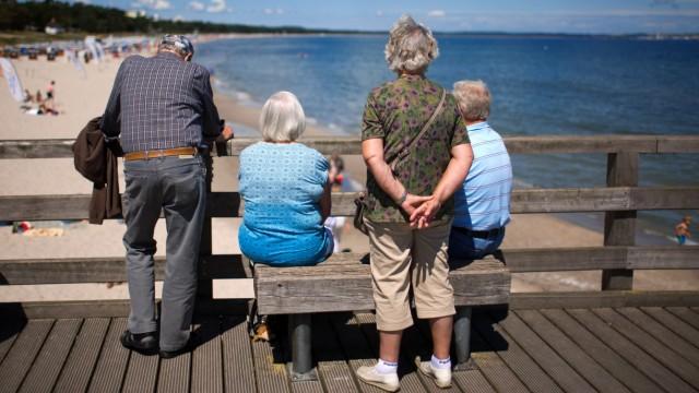 Rentner machen Urlaub