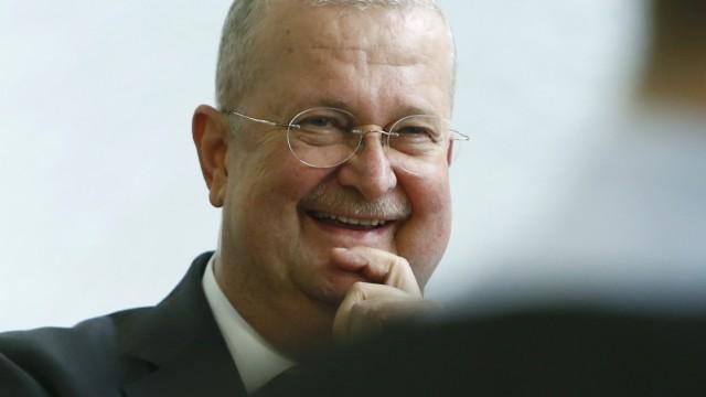 Former CEO of Porsche AG Wiedeking arrives for his trial at  court in Stuttgart