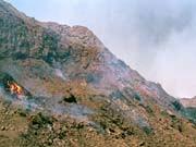 Brennender Kohleflöz in China
