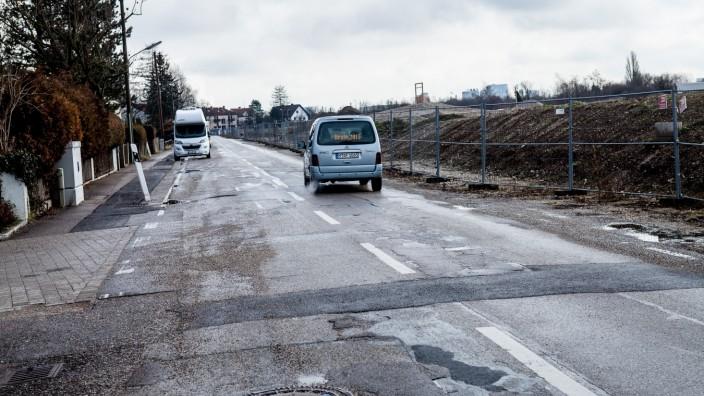 Straßenzustand Schittgablerstraße Lerchenau