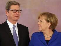 Guido Westerwelle und Angela Merkel
