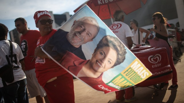 Brazilians Show Their Support For Current President Dilma And Former President Lula