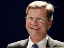 File photo of German Foreign Minister Westerwelle during a party congress in Siegen