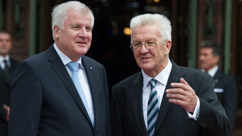 Winfried Kretschmann und Horst Seehofer