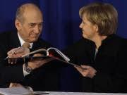 Angela Merkel Ehud Olmert Israel AP
