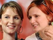Juso-Chefin Franziska Drohsel und Linke-Vize Katja Kipping: Mehr Gemeinsames als Trennendes. Grafik: sde