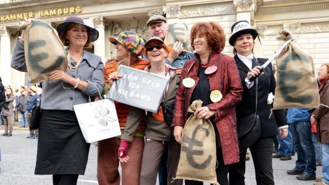 Demonstration gegen soziale Ungerechtigkeit