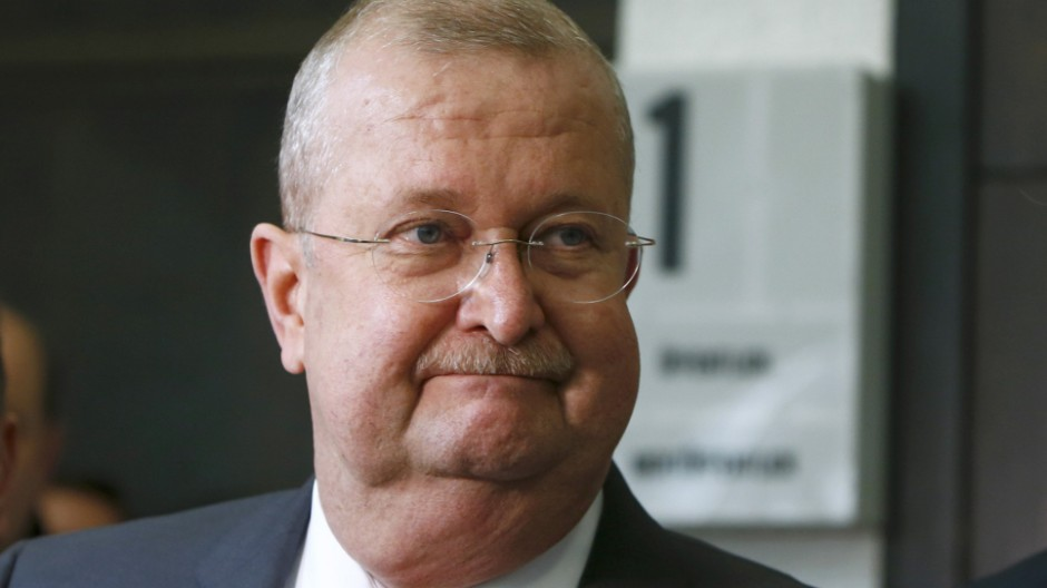 Former CEO of Porsche AG Wiedeking leaves court after being aquitted in Stuttgart