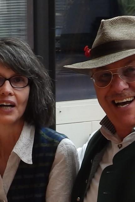 Chris und Edith Coonradt, EC Parksee Unterhaching, Eisstockschießen, Stockschießen