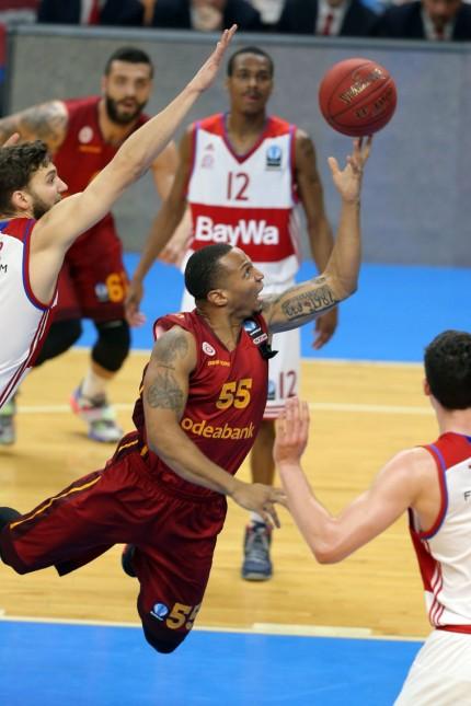 Euro Cup Basketball Quarter Final second leg match between Galatasaray and Bayern Munich at Abdi Ipe