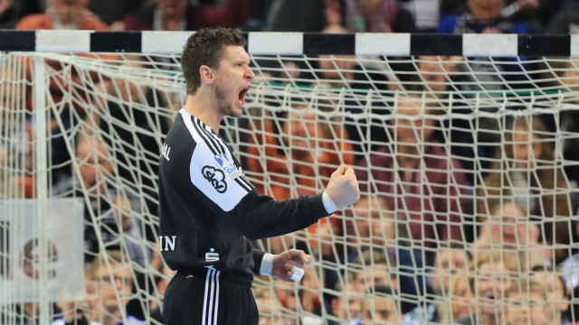 Kiel 21 February 2016 Handball Saison 2015 2016 Bundesliga THW Kiel SC DHfK Leipzig Niklas L; Niklas Landin THW Kiel