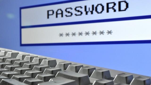 Illustration - Computer und Passwort