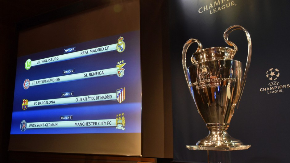 UEFA Champions League quarter final draw in Nyon