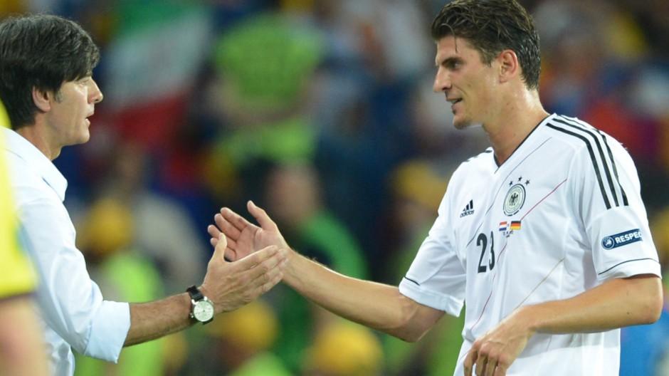 Joachim Loew und Mario Gomez