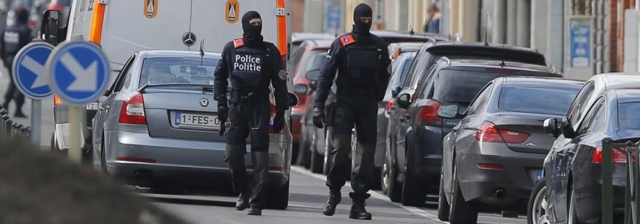 Police raid in Brussels