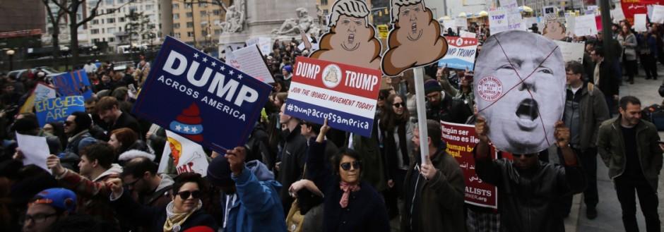 Anti-Trump Rally Held In New York City