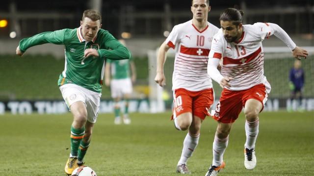 Fußball Länderspiel Irland Schweiz 25 03 2016 Aviva Stadium Dublin Ireland International Foo; Schweiz