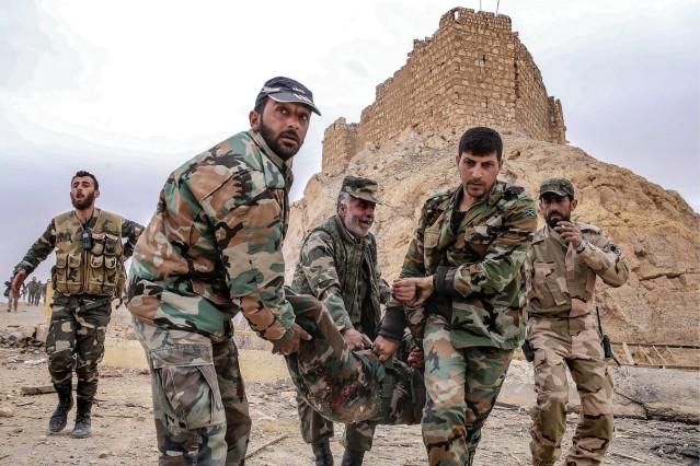 Historisches Palmyra von Terrormiliz IS befreit