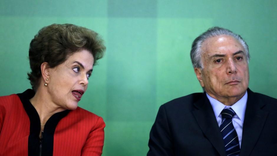 Krise in Brasilien: Rousseffs Koalitionspartner droht mit Bruch