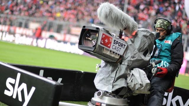 Sky-Kameramann am Spielfeldrand