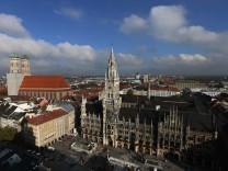 Blick vom Alten Peter auf die Münchner Altstadt, 2015