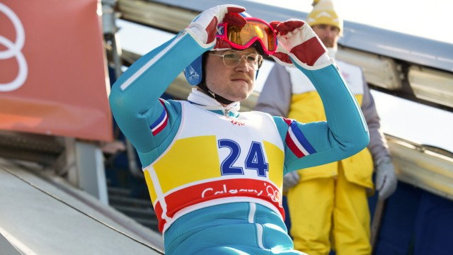 "Michael Edwards (Taron Egerton) als ""Eddie The Eagle""."