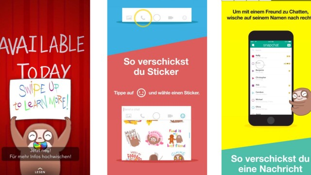 Snapchat Discover Channel zu Chat-Update