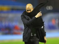 FILE - Pep Guardiola Set To Leave Bayern Muenchen At The End Of The Season GNK Dinamo Zagreb v FC Bayern Munchen - UEFA Champions League