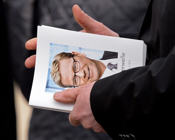 Funeral For Guido Westerwelle