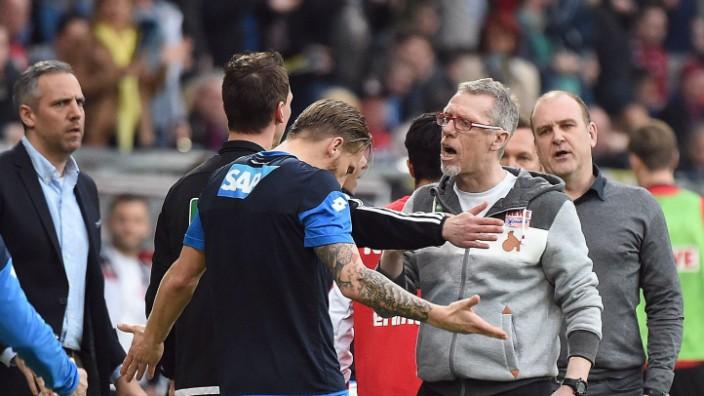 03 04 2016 xjhx Fussball 1 Bundesliga TSG 1899 Hoffenheim 1 FC Koeln emspor v l Trainer Pete