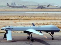 Startbereite Drohne auf US-Stützpunkt Bagram in Afghanistan