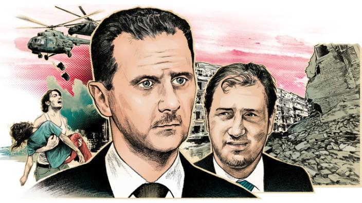 Der Diktator und sein Cousin: Baschar al-Assad konnte sich auf die Hilfe von Rami Makhlouf verlassen.