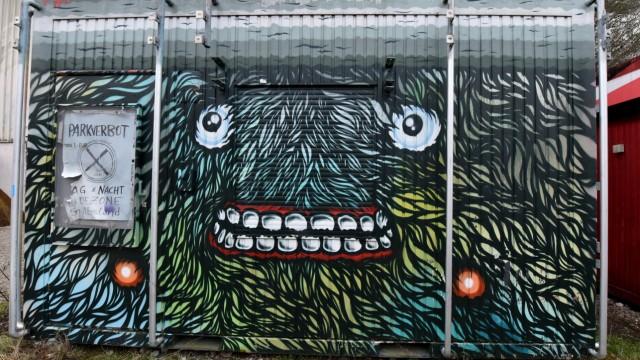 Graffiti auf dem Gelände der Kultfabrik in München, 2016