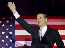 U.S. Republican presidential candidate Ted Cruz arrives at his Wisconsin primary night rally in Milwaukee
