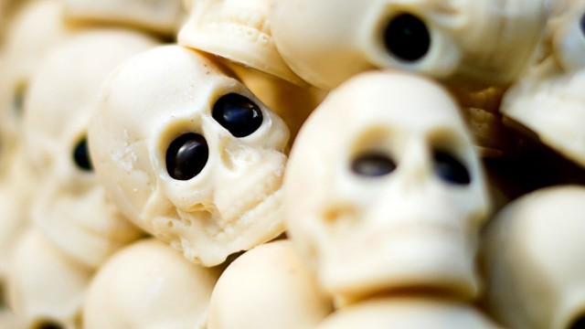 Totenköpfe aus Schokolade - Diabetes