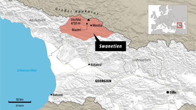 Georgien Karte.Region Swanetien In Georgien Kaukasischer Traum Reise