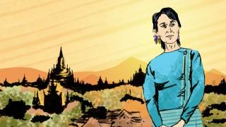 Illustration Reiseserie GUTE REISE Wie wir Urlaub machen wollen Aung San Suu Kyi Myanmar