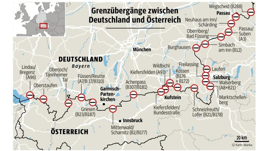 grenzübergänge österreich karte Grenzübergang Deutschland österreich Karte   diabetesontherun grenzübergänge österreich karte