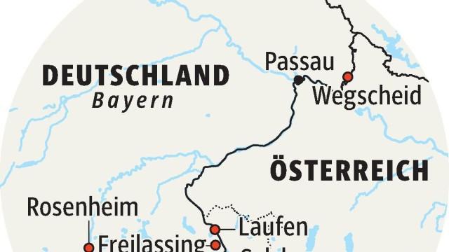 Flüchtlinge in Bayern Grenzgebiet
