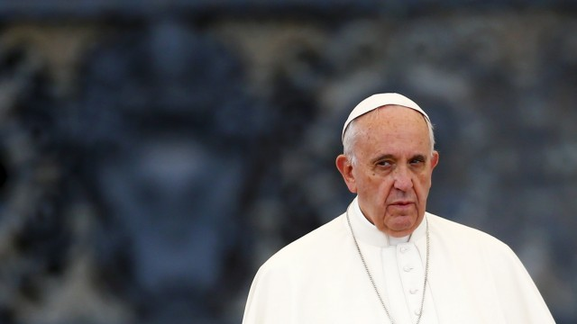 Pope Francis leads a Jubilee vigil prayer in Saint Peter's Square at the Vatican