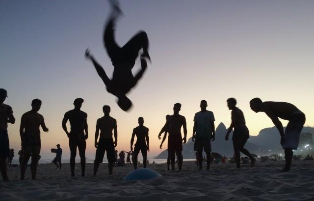 BESTPIX - A Man Flips on Ipanema Beach