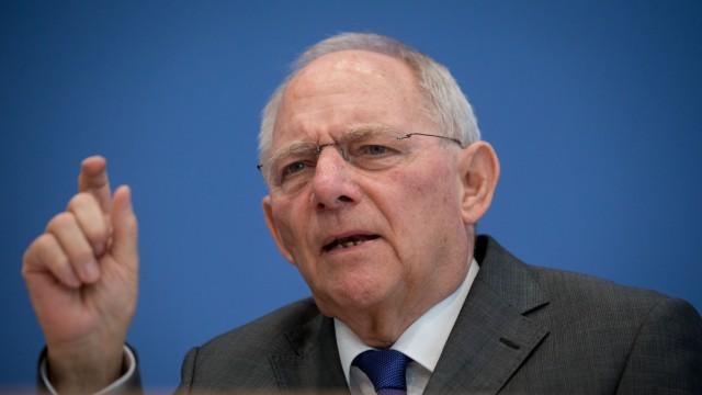 Pressekonferenz Wolfgang Schäuble
