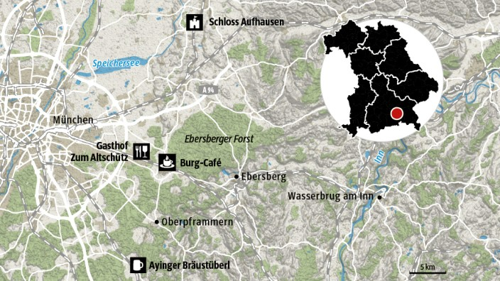 Karte Kreuz und Quer durch Bayern