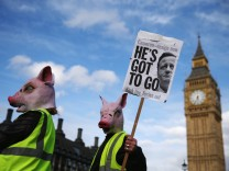 BESTPIX Tax Loophole Protest Held Outside Downing Street After Panama Revelations